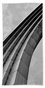Arch In Black And White Beach Towel