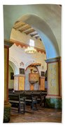 Arch In San Juan Bautista Mission Beach Towel