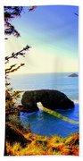 Arch Rock Reflection Beach Towel