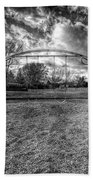 Arch Swing Set In The Park 76 In Black And White Beach Towel
