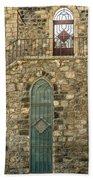 Arched Door And Window Beach Towel