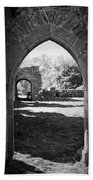 Arched Door At Ballybeg Priory In Buttevant Ireland Beach Towel