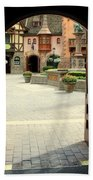 Arched Doorway With A Bavarian View Beach Towel