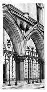 Arches Front Of The Royal Courts Of Justice London Beach Towel