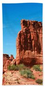 Arches National Park From A Utah Highway Beach Towel