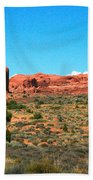 Arches National Park In Moab, Utah Beach Towel