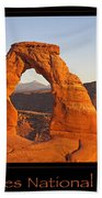 Arches National Park Poster Beach Towel