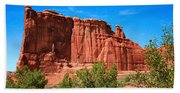 Arches National Park, Utah Usa - Tower Of Babel, Courthouse Tower Beach Towel