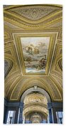 Architectural Artistry Within The Vatican Museum In The Vatican City Beach Sheet