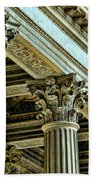 Architecture Columns Palace King Louis Xiv Versailles  Beach Towel