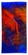 Architecture Detail  Amber Fort Palace India Rajasthan Jaipur Abstract Square 1a Beach Towel