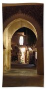 Archways At Night Beach Towel