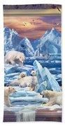 Arctic Bears Coming Beach Towel