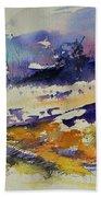 Ardennes Landscape Watercolor Beach Towel