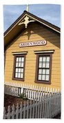 Ardenwood Historic Farm Railroad Station Beach Towel