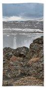Area By Godafoss Waterfalls, Iceland Beach Towel