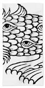 Argus Sea Monster, 1537 Beach Towel
