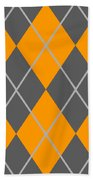 Argyle Diamond With Crisscross Lines In Pewter Gray T03-p0126 Beach Towel