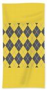 Argyle Diamond With Crisscross Lines In Pewter Gray T05-p0126 Beach Towel