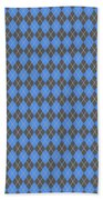 Argyle Diamond With Crisscross Lines In Pewter Gray T18-p0126 Beach Towel