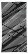 Aria Hotel Canopy Abstract Beach Towel