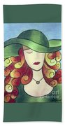 Aristocratic Lady Beach Towel