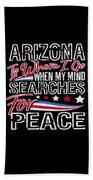 Arizona American Patriotic Memorial Day Beach Sheet