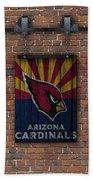 Arizona Cardinals Brick Wall Beach Towel
