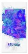 Arizona Map Watercolor 2 Beach Towel