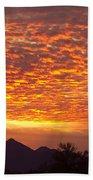 Arizona November Sunrise With Saguaro   Beach Towel