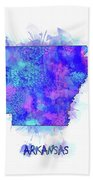 Arkansas Map Watercolor 2 Beach Towel