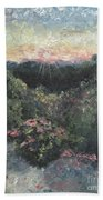 Arkansas Mountain Sunset Beach Towel by Nadine Rippelmeyer