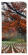 Arlington Cemetery In Fall Beach Towel by Carolyn Marshall