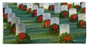 Arlington National Cemetery At Christmas Beach Towel
