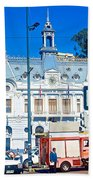 Armada De Chile In Valparaiso-chile  Beach Towel