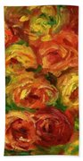 Armful Of Roses 1918 Beach Towel