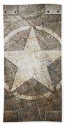 Army Star On Steel Beach Towel