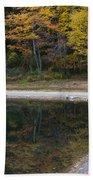 Around The Bend- Hiking Walden Pond In Autumn Beach Towel