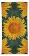 Around The Sunflower Beach Towel