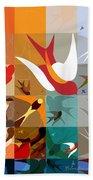 Arraygraphy - Birdies Triptych Part2 Beach Towel