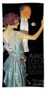 Arrow Shirt Collar Ad, 1923 Beach Towel