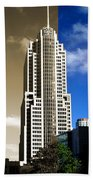 Art Deco Nbc Tower Beach Towel
