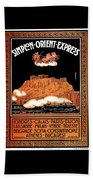 Art Deco Orient Express Advertising Athens Beach Towel