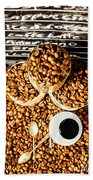 Art In Commercial Coffee Beach Towel