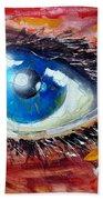Art In The Eyes Beach Towel