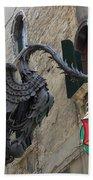 Art Nouveau Dragon In Marzaria Venice Italy Beach Sheet