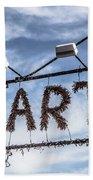 Art Sign Beach Towel