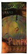 Artful Pumpkins Beach Sheet