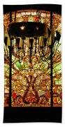 Artful Stained Glass Window Union Station Hotel Nashville Beach Towel by Susanne Van Hulst