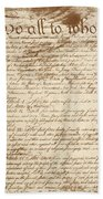 Articles Of Confederation Beach Towel
